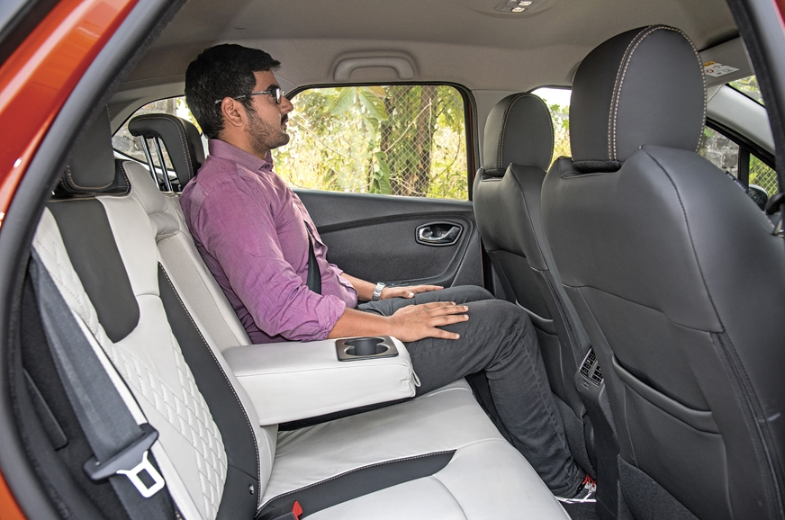 Captur's rear seat is well cushioned but legroom is just ...