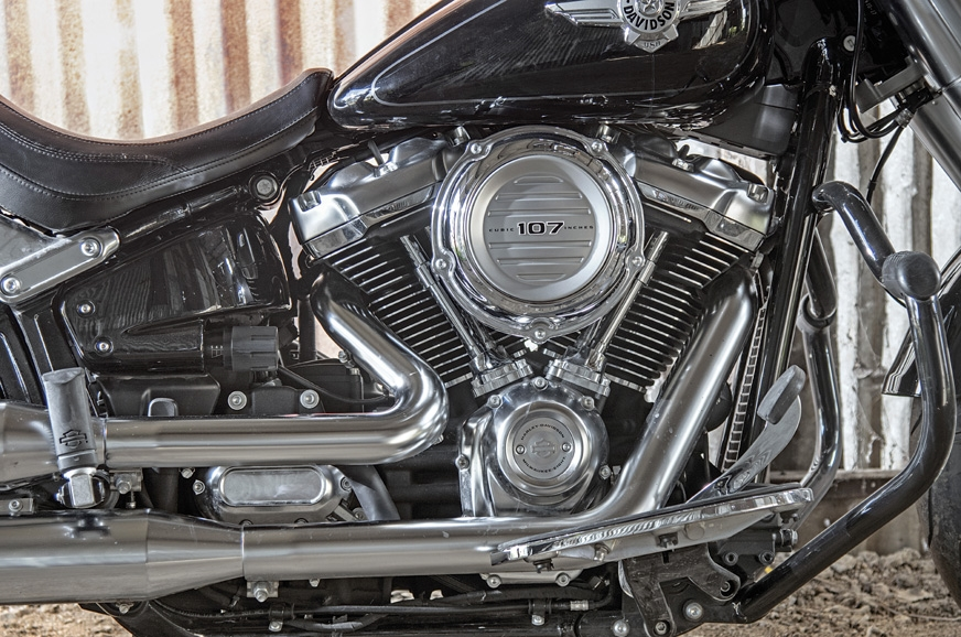 The 1,745cc V-Twin is well-finished.