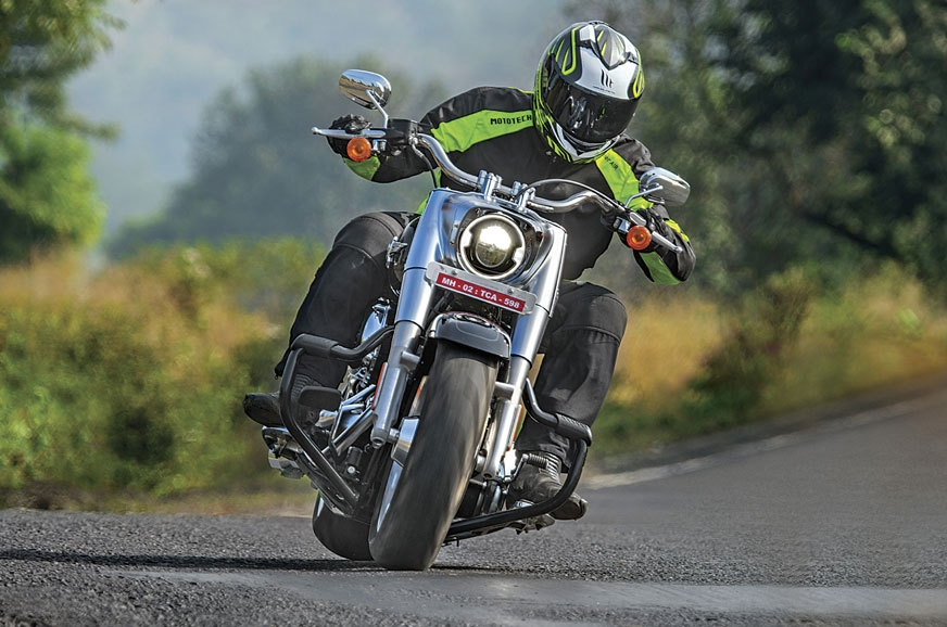 Despite Harley's widest-ever front tyre, the Fat Boy is i...