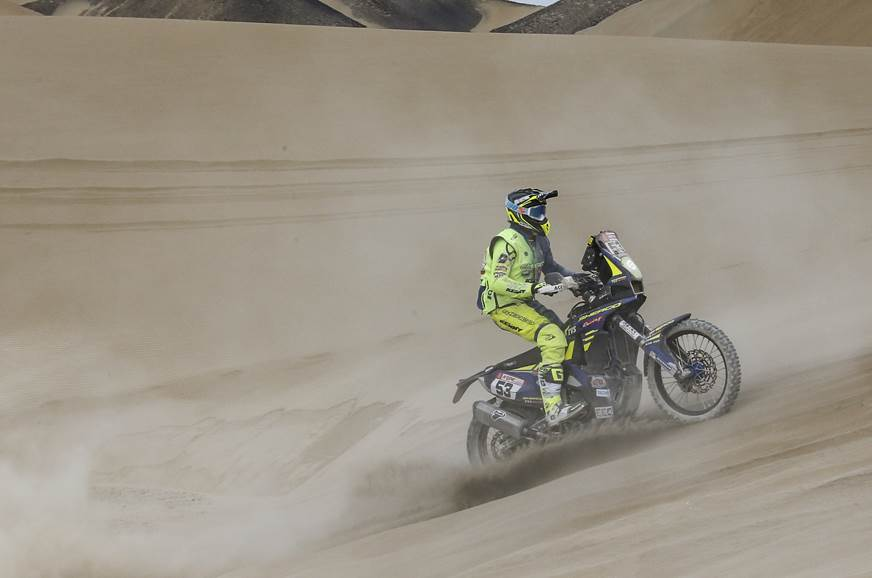 Sherco-TVS' Aravind KP finished 29th at the end of the day.