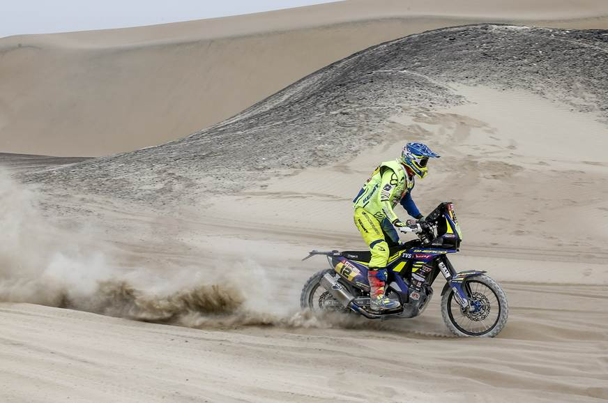 Sherco-TVS' Joan Pedrero finished the stage in 16th to be...