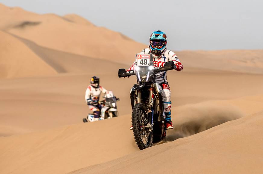 Hero MotoSports' CS Santosh started the day in 28th but s...