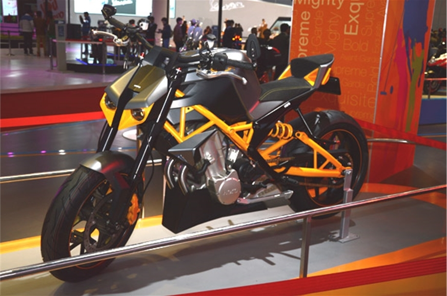 The Hastur concept previewed a large capacity Hero bike.