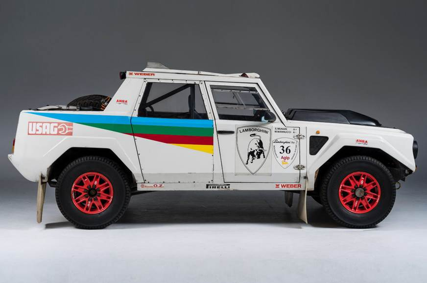 The rally-spec LM002's 455hp V12 was retuned to put out 6...