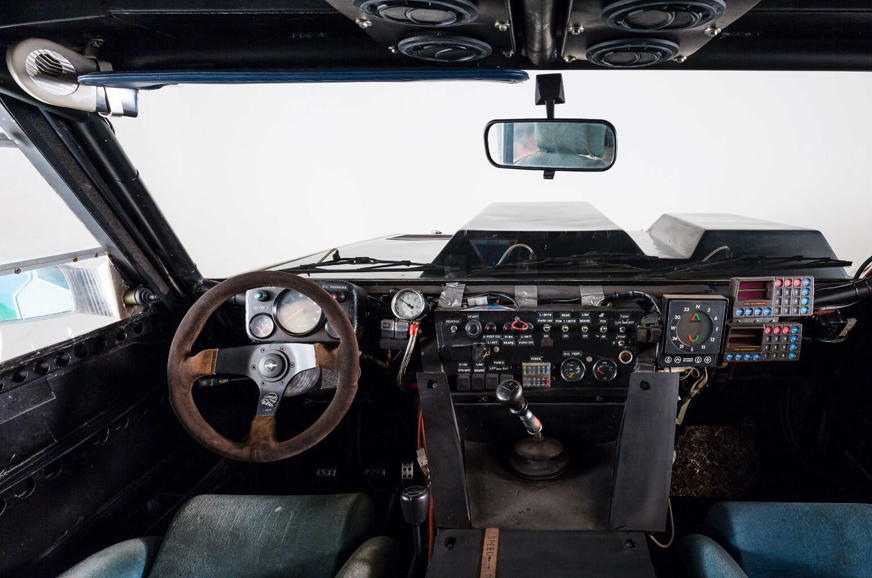 Racing seats (with five-point belts), an advanced navigat...