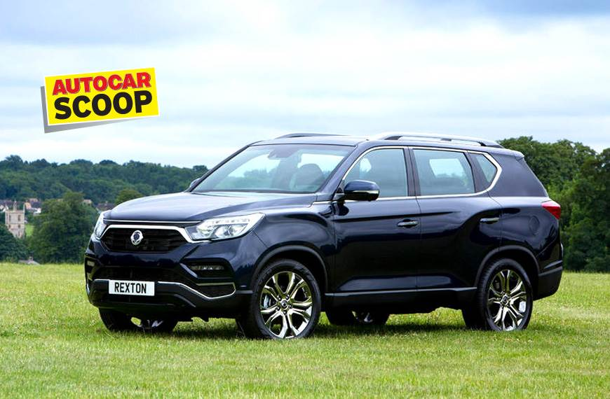 India-spec Rexton will get minor styling changes ahead of Diwali 2018 launch. (European version shown).