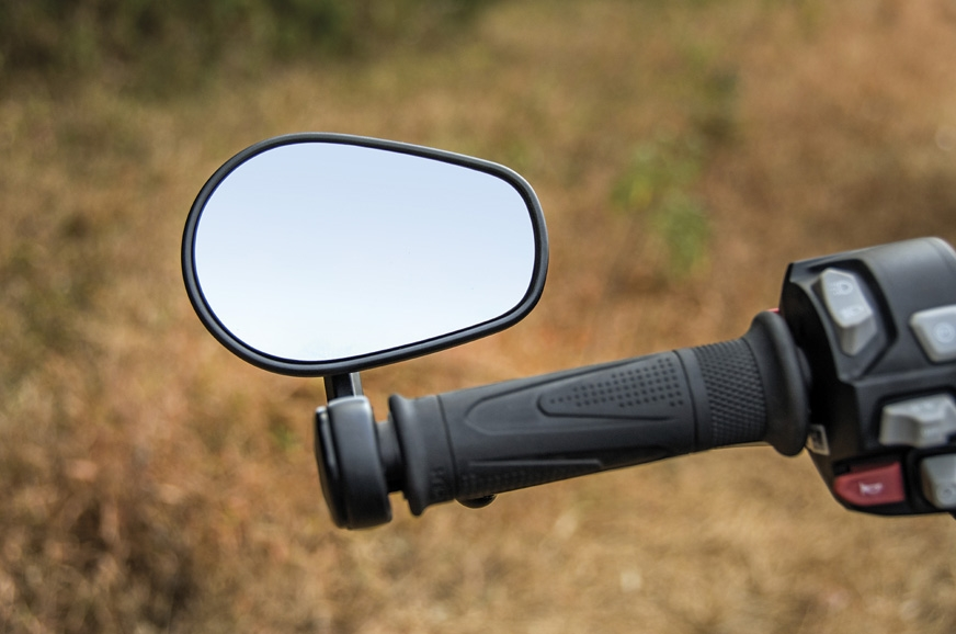 Bar-end mirrors are surprisingly usable.