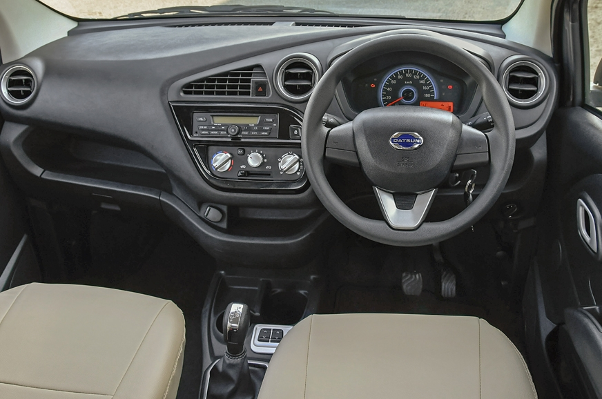 Black interiors like the 1.0-litre's, remain unchanged.
