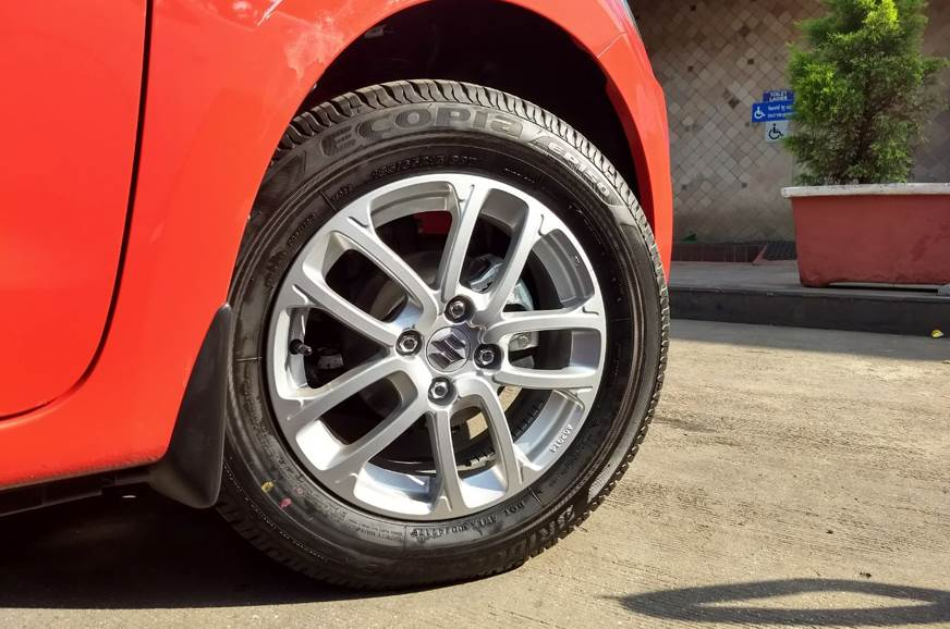 The 15-inch alloy wheels on the AMT versions do not get t...