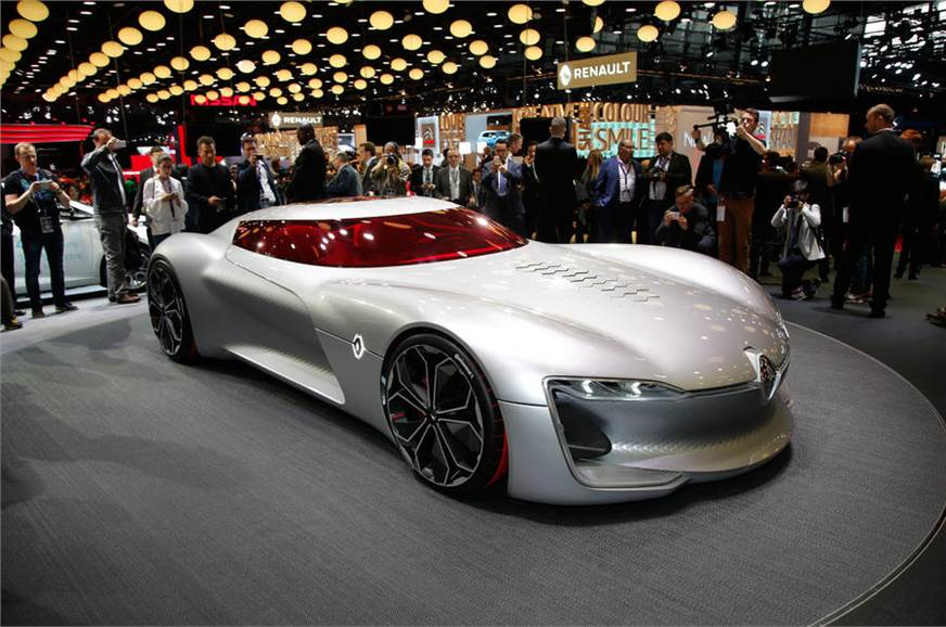 The Trezor concept on display at the 2016 Paris motor show.