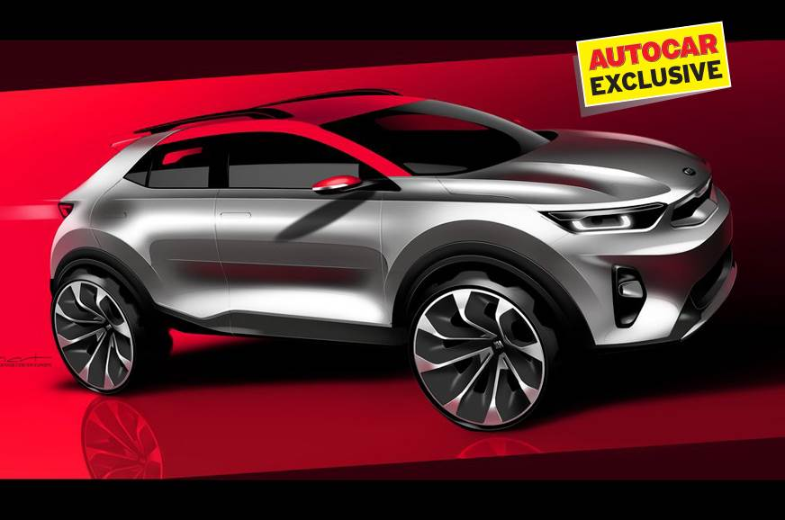 Sketch of the Kia SUV concept that previewed the Stonic (...