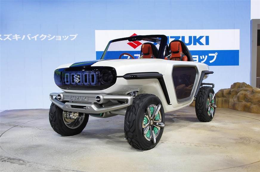 The e-Survivor concept SUV displayed at the 2017 Tokyo mo...