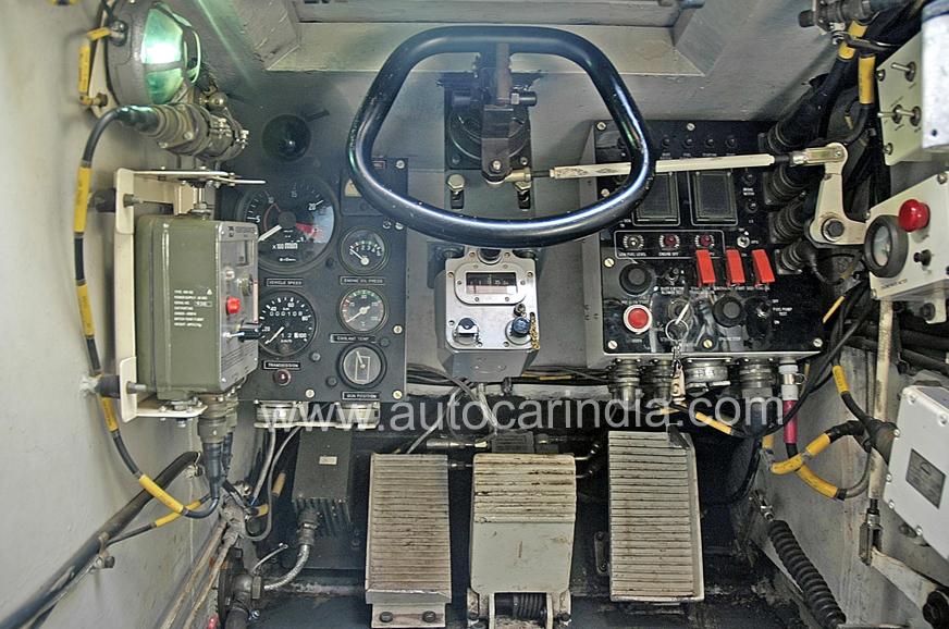 Steering wheel, brake (centre) and accelerator pedal - easy.