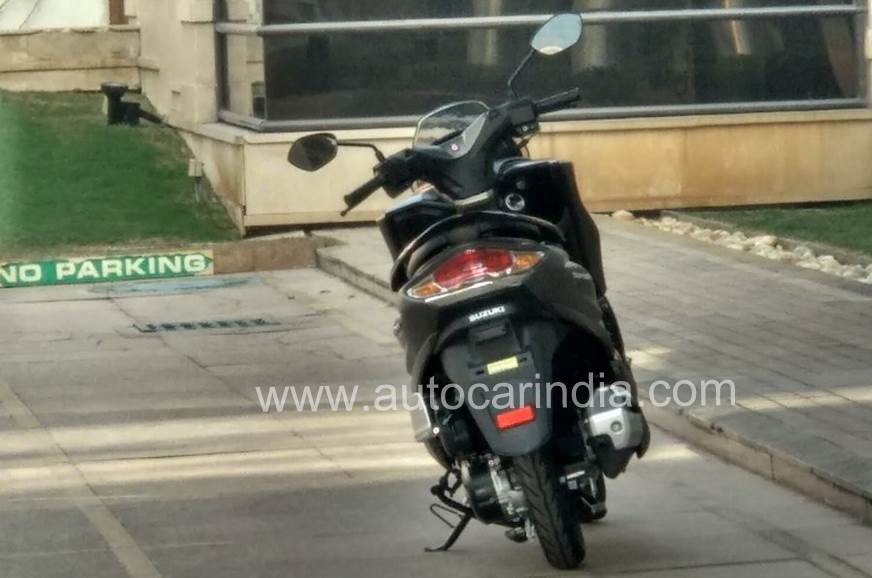 The Burgman scooter spied in India.
