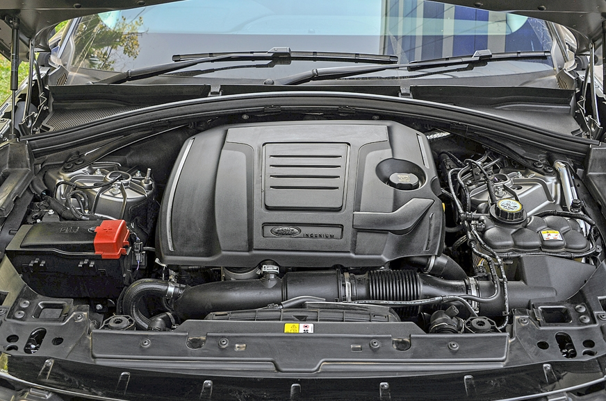 Strong 250hp petrol engine gives the Velar ample shove.