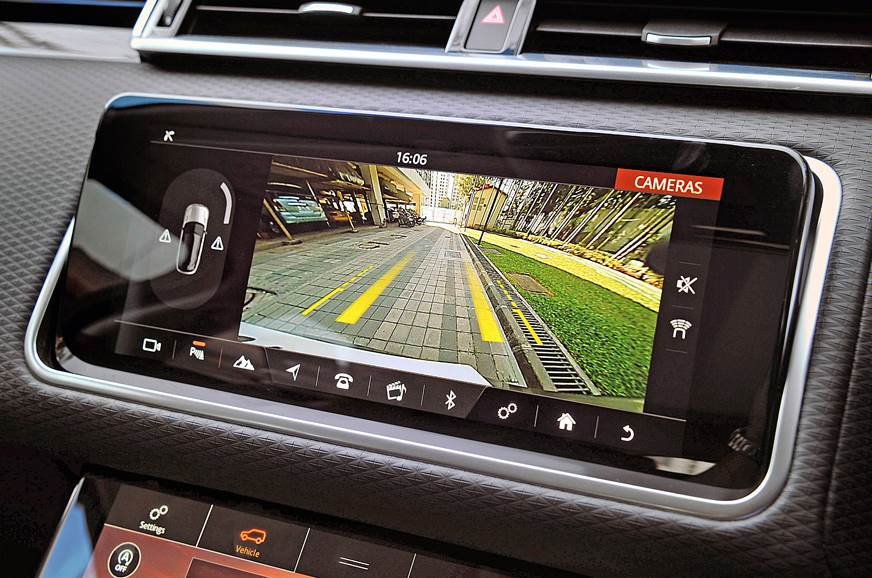 Upper screen shows features that drivers would access reg...