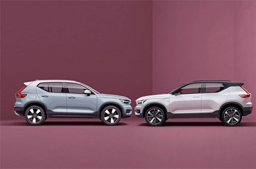 The XC40 and the Concept 40.1.