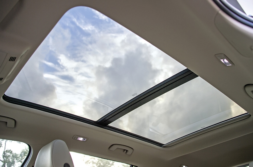 Huge panoramic sunroof allows for stunning vistas from re...