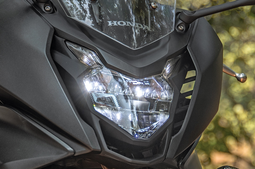 Full-LED headlamp performs decently.