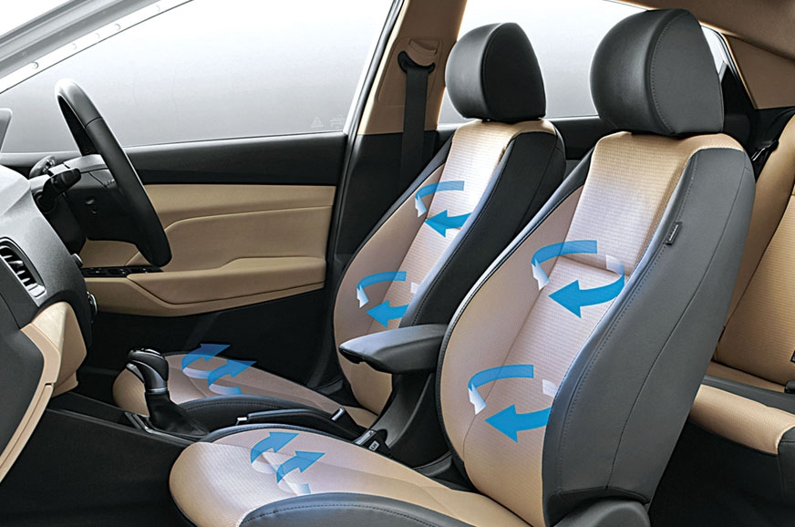 The Verna's ventilated seats will cool you down on the ho...