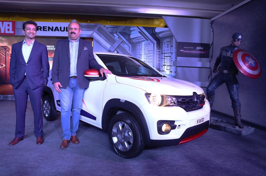 The Captain America trim on the new Kwid.