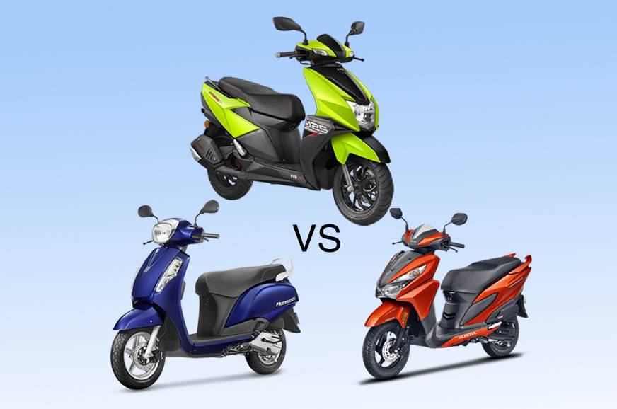 TVS Ntorq 125 vs rivals: Specifications comparison