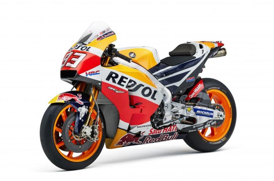 Marc Marquez's 2017 MotoGP winning bike.