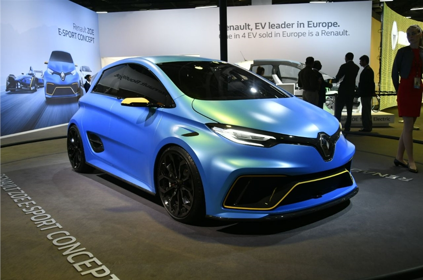 2018 renault zoe ev and esport at auto expo 2018 details launch date specifications and more. Black Bedroom Furniture Sets. Home Design Ideas