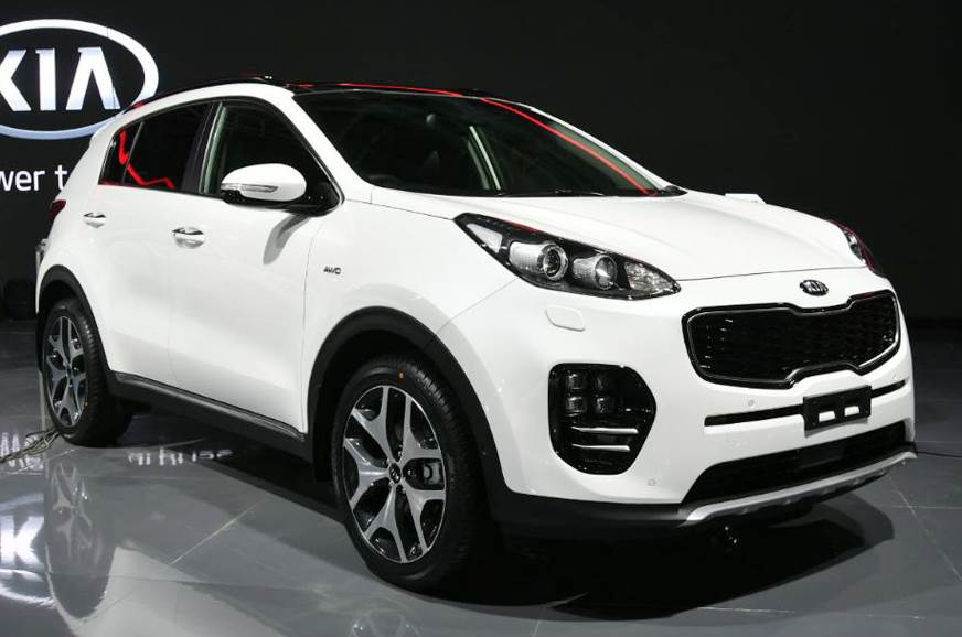 Kia Sportage SUV shown in India at the Auto Expo 2018