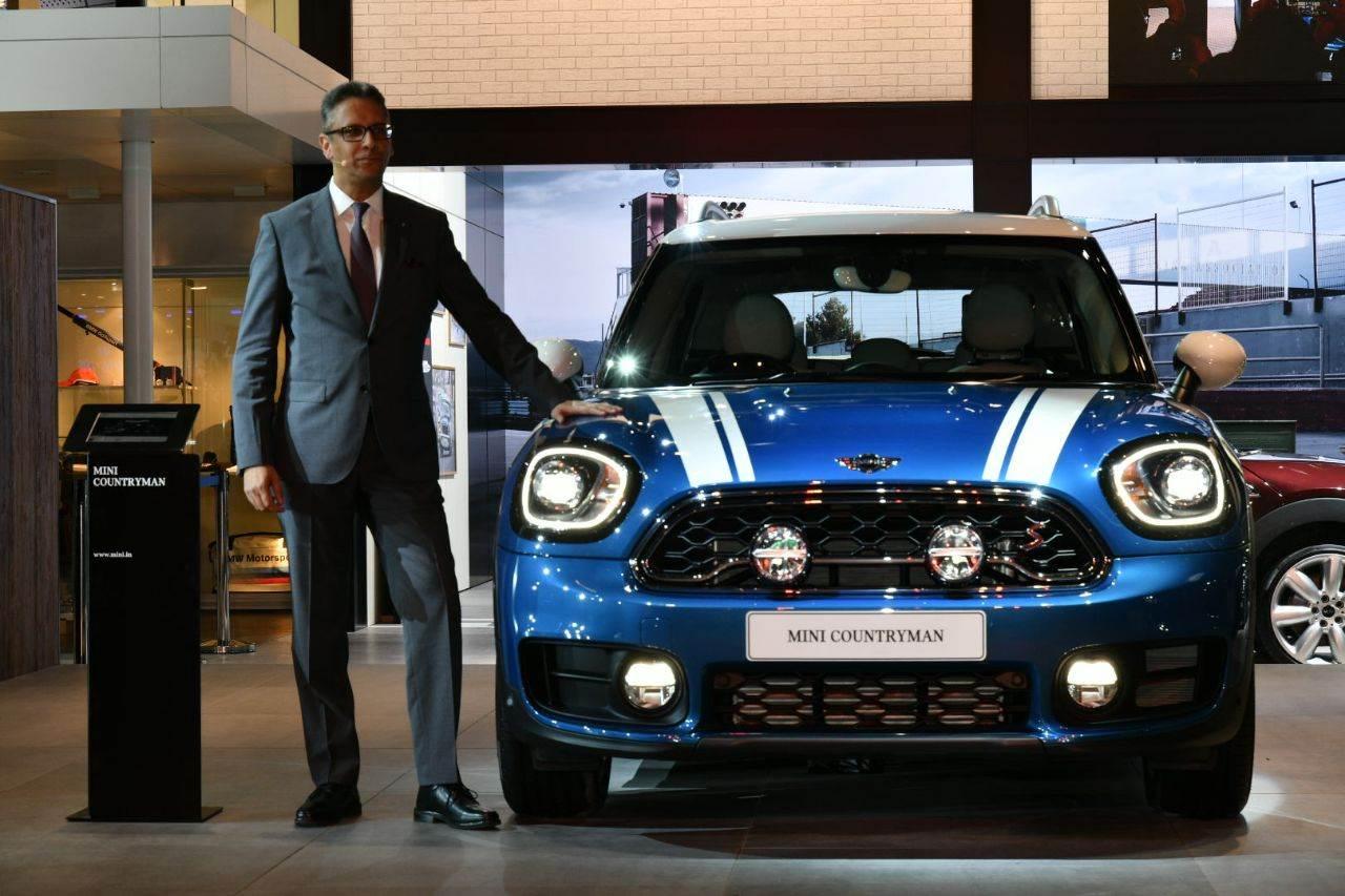 2018 Mini Countryman showcased at Auto Expo