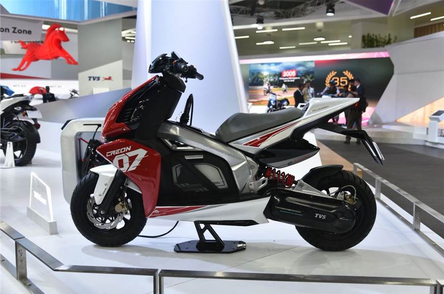 auto expo 2018 tvs creon e scooter concept unveiled. Black Bedroom Furniture Sets. Home Design Ideas