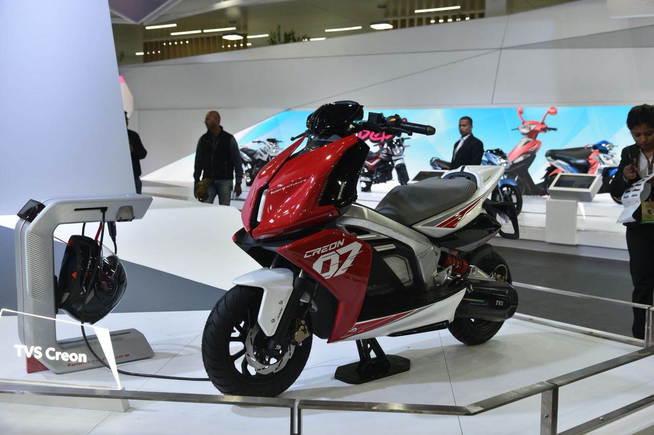 TVS Creon e-scooter concept unveiled at Auto Expo 2018