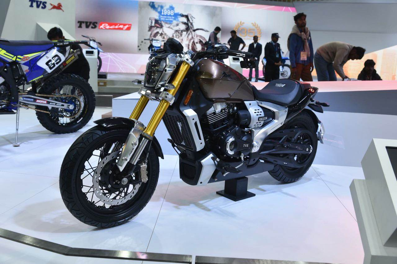 TVS Zeppelin cruiser concept revealed at Auto Expo 2018