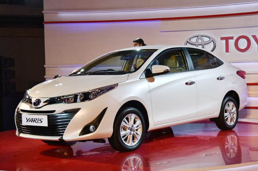 Auto Expo 2018 Toyota Yaris Sedan Showcased Ahead Of