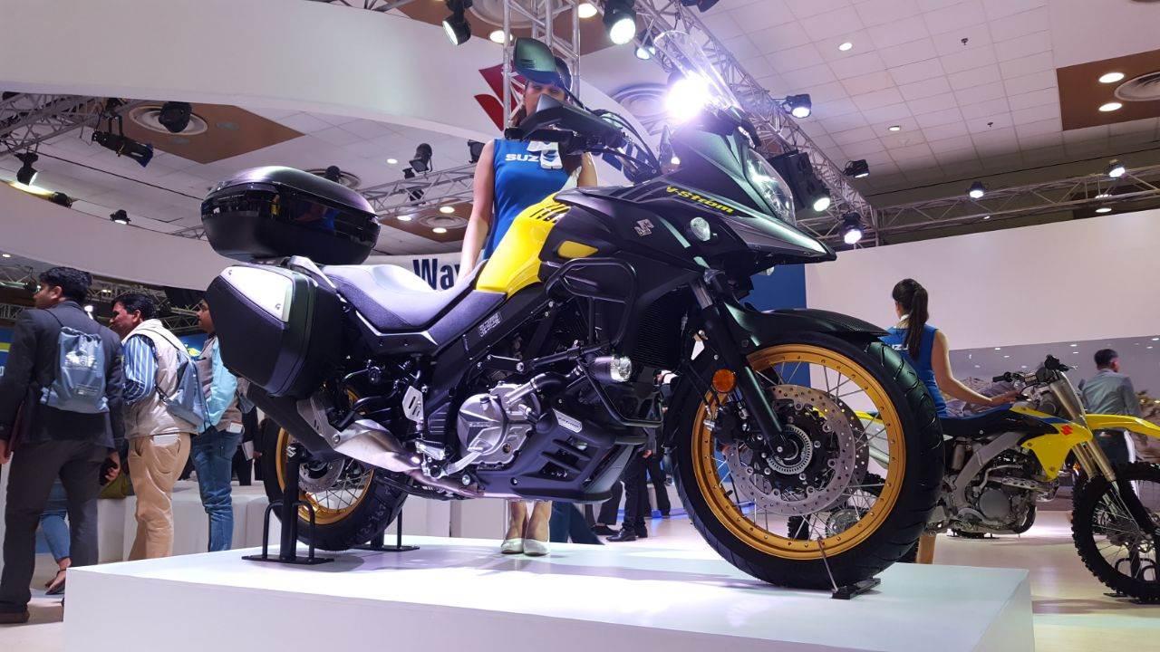2018 Suzuki V-Strom 650 XT showcased at the Auto Expo