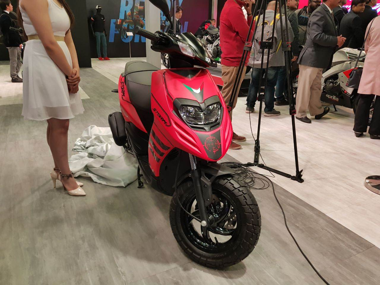 Aprilia Storm 125 revealed at Auto Expo 2018
