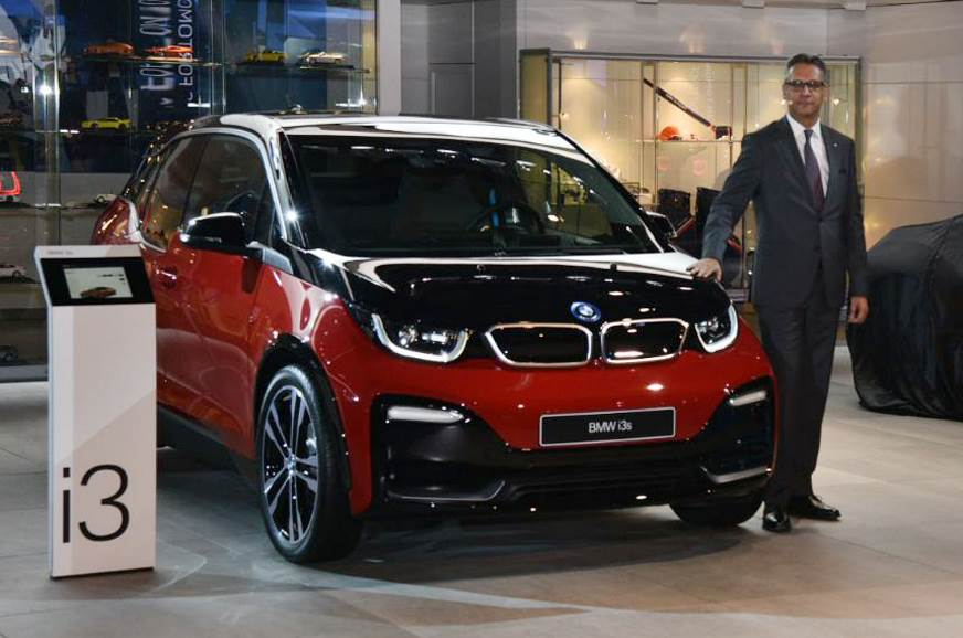BMW i3S electric hatch showcased at Auto Expo 2018