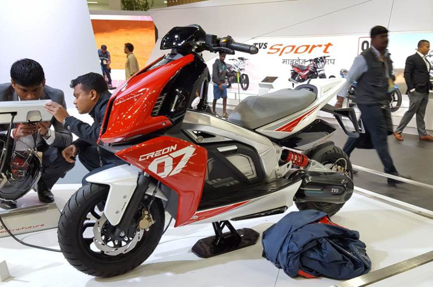 Electric two-wheelers showcased at Auto Expo