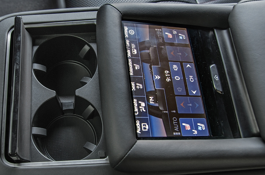 Rear touchscreen helps functionality.