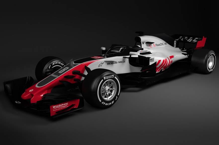 Haas reveals 2018 F1 car