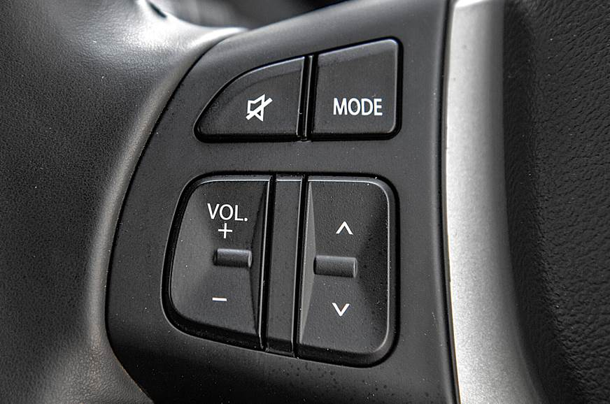 Check if all the buttons and switches on the steering whe...