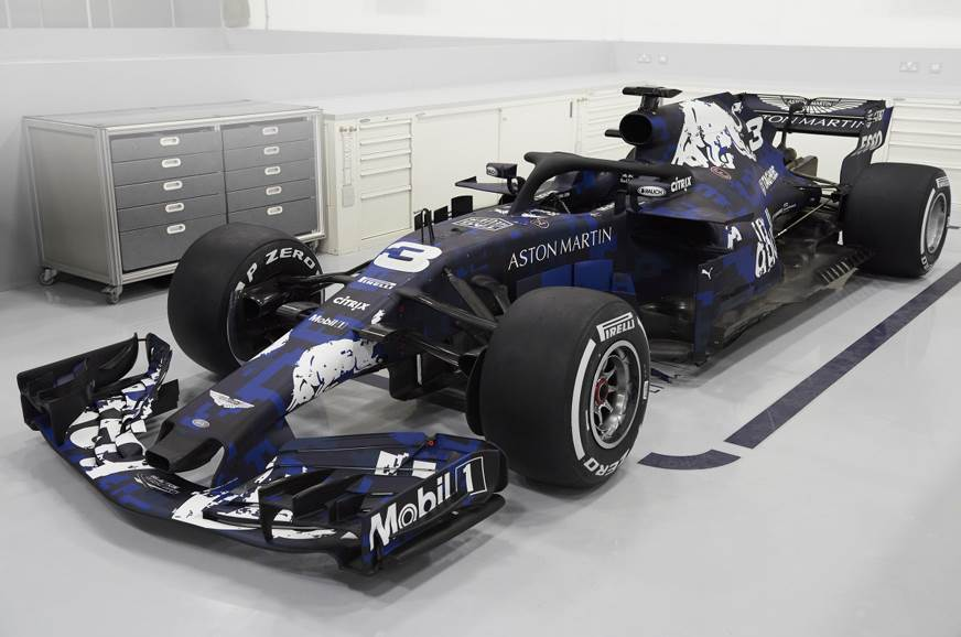 2018 Red Bull F1 car unveiled with temporary livery