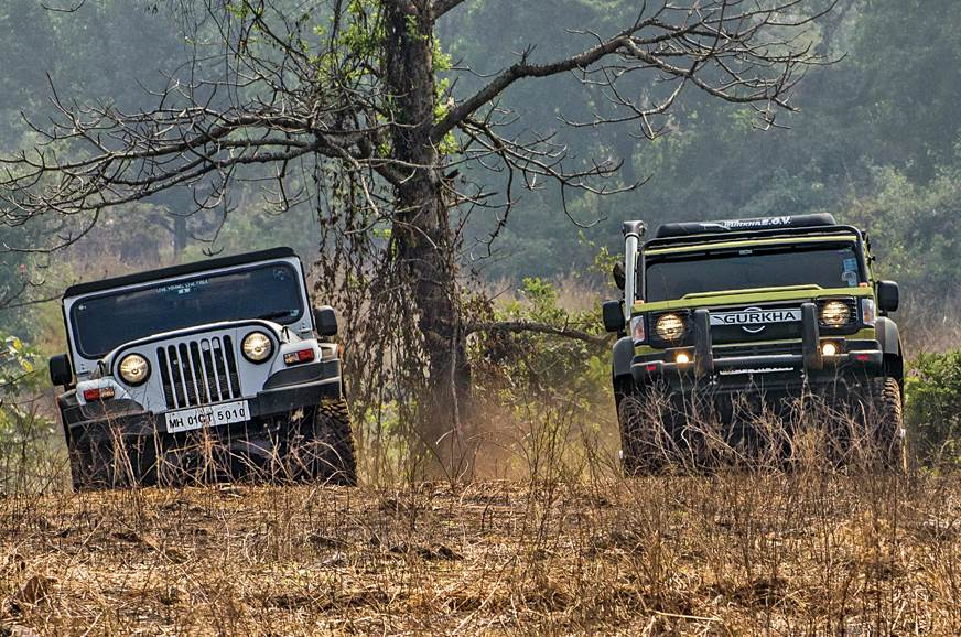 2018 Mahindra Thar vs Force Gurkha comparison