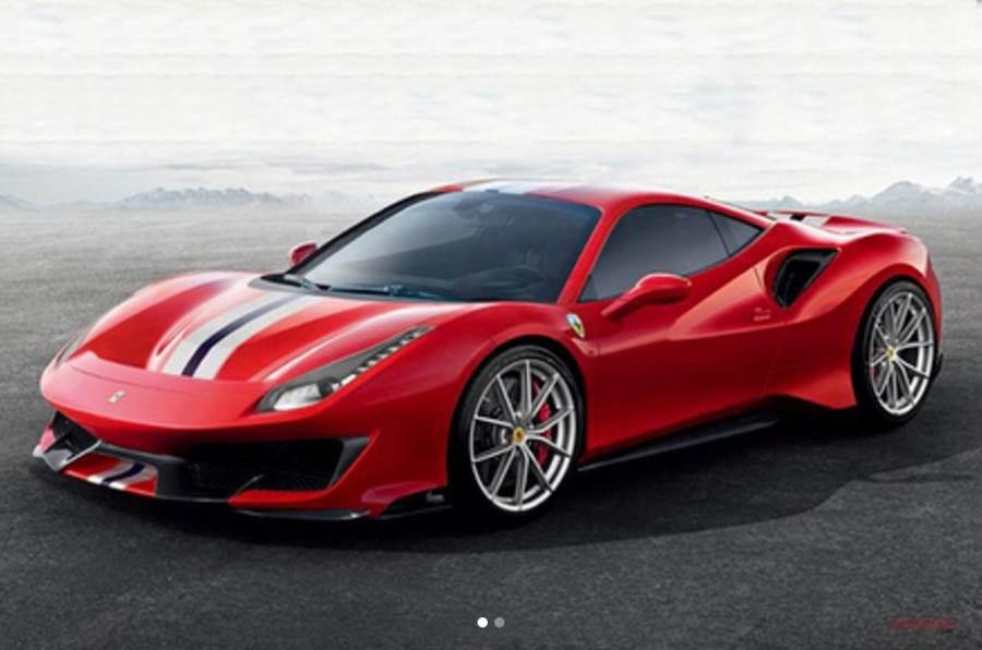 Ferrari 488 Pista images leaked