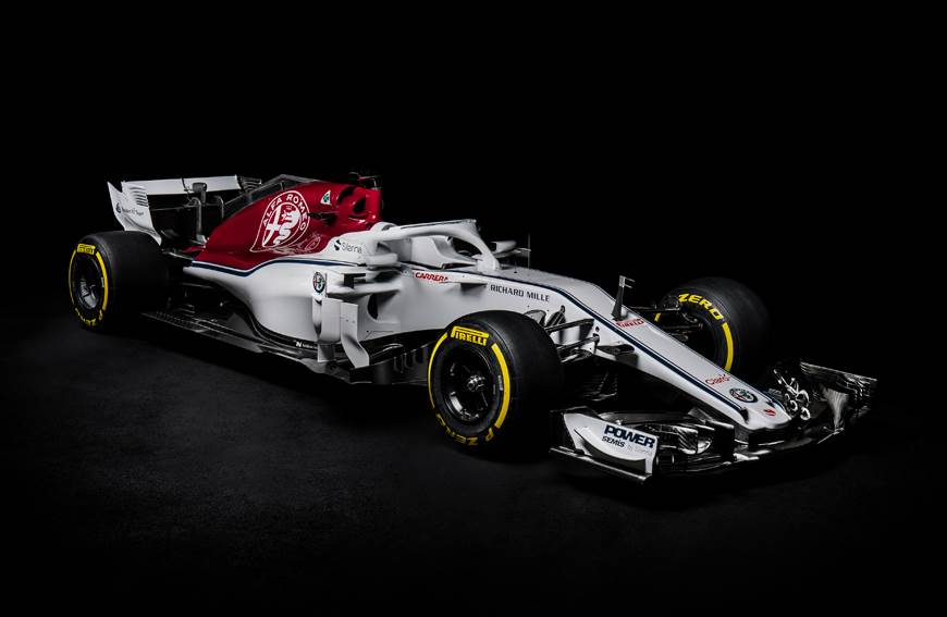 Sauber reveals 2018 F1 car with new look