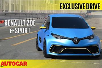 2018 Renault Zoe e-Sport video review