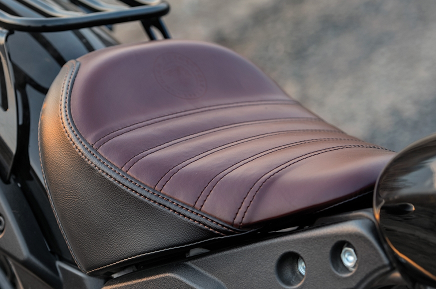 Comfy solo seat adds to the bobber styling.