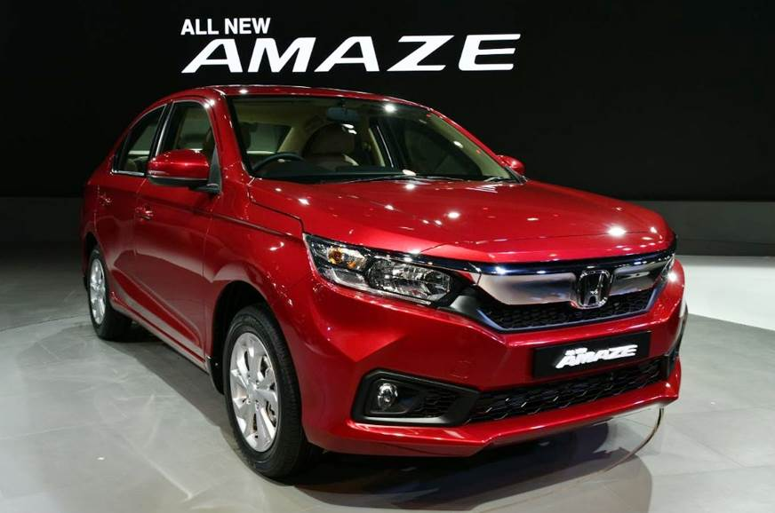 New Amaze borrows styling cues from larger Honda sedans.