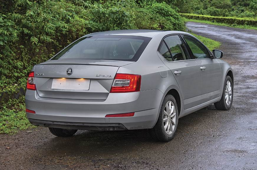 The Octavia's suspension deals with our potholed roads wi...