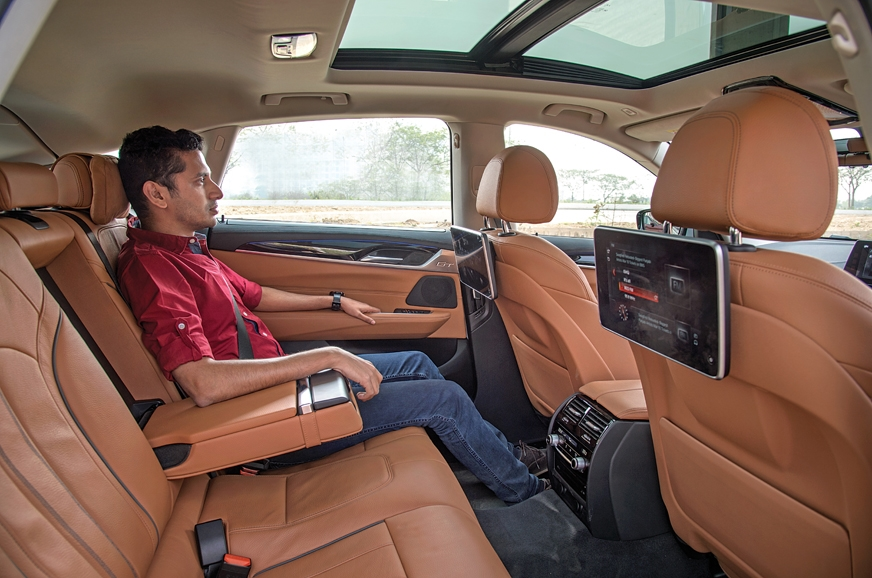 Back-seat space is immense and seat is pretty comfy; recl...
